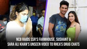 SSR's Pavana farmhouse raided by NCB, SSR & Sara's unseen video to Rhea's drug chat