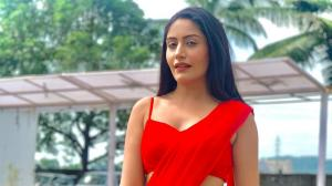 All the times Surbhi Chandna wore red sarees and looked breathtakingly beautiful in the colour of love