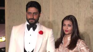 When Aishwarya Rai Bachchan-Abhishek Bachchan colour coordinated in white for Manish Malhotra's 50th birthday