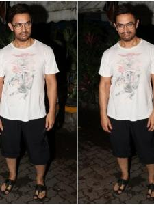 Aamir Khan gets snapped by the paparazzi post spa session