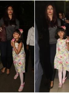 Aaradhya Bachchan spotted with her mum Aishwarya at the airport