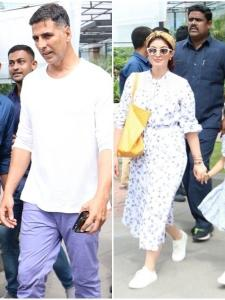 Akshay Kumar gets clicked by the shutterbugs post lunch with his family