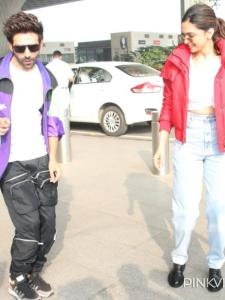 When Deepika Padukone wore a jacket worth over Rs 1 lakh and shook a leg with Kartik Aaryan at the airport