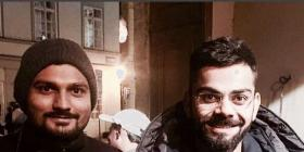 Virat joins Anushka in Prague; strikes a 'cheesy' pose for her!