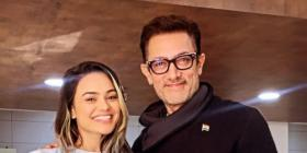 Aamir Khan's BTS pictures with crew members go viral from the sets of Koi Jaane Na; Take a look
