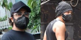 PHOTOS: Arjun Kapoor clicked sporting his comfy summer look; Varun Dhawan keeps it casual in the gym attire