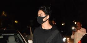 PHOTOS: Aryan Khan looks suave in black sweatshirt & jeans as he arrives for Ibrahim Ali Khan's birthday bash