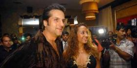 Fardeen Khan & Ajay Devgan at a Bash at F Bar