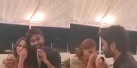 Video: Dhanush makes his wife Aishwaryaa blush as he sings Rajinikanth's song 'Ilamai Thirumbudhe' for her