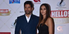 PHOTOS: Lovebirds Farhan Akhtar and Shibani Dandekar strike a pose at the Hello! Hall of Fame Awards