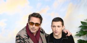 Avengers: Endgame stars Robert Downey Jr and Tom Holland REUNITE at the London premiere of 'Dolittle'