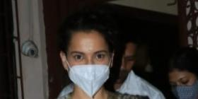Kangana Ranaut looks regal in white as she gets papped in city; Ensures to don a mask as COVID 19 cases rise