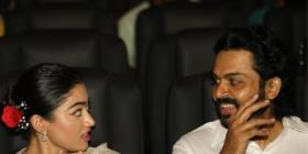 Karthi and Rashmika Mandanna attend the pre release event of Sulthan's trailer; See PHOTOS