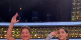 WATCH: Madhuri Dixit and Nora Fatehi set the stage on fire as they shake a leg on Mera Piya Ghar Aaya