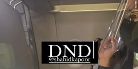 Mira Rajput gives a glimpse of Shahid Kapoor's DND mode as he is busy working in a flight; See Pic