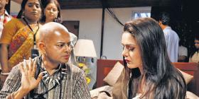 New Pic: Preity on the sets of The Last Lear