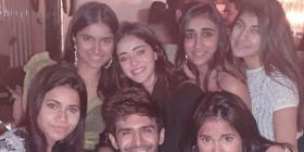 Pati Patni Aur Woh: Ananya Panday shares inside pictures of her and Kartik Aaryan from the film's success bash