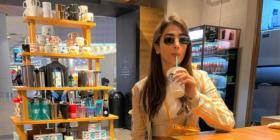 Pooja Hegde takes a sip of her favourite lemonade as her flight gets delayed; See PHOTOS