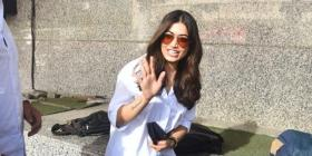 WATCH: Rashmika Mandanna papped in summer friendly white shirt & shorts look at Sulthan's screening in Mumbai