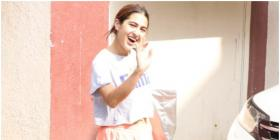 Sara Ali Khan kick starts her week on a cheerful note post Pilates and greets kids; See PHOTOS