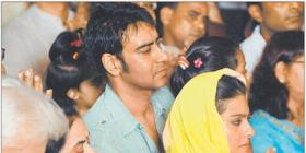 Kajol & Ajay Devgan at Siddhivinayak Temple