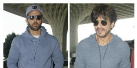 Kaabil Hrithik and Raees SRK cross paths at the airport!
