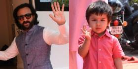 Pics: Taimur Ali Khan and Saif Ali Khan are in a cheerful mood as they send their Hello to the paps