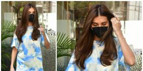 Tara Sutaria hops on the tie dye trend in a blue and white look giving us street style GOALS: Yay or Nay?