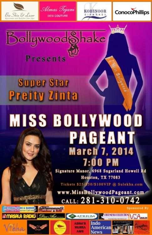 News,preity zinta,Miss Bollywood 2014