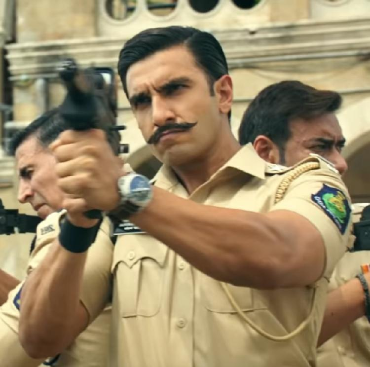 1 Year of Simmba: Ranveer Singh, Akshay Kumar, Ajay Devgn tease with a glimpse of Rohit Shetty's cop universe