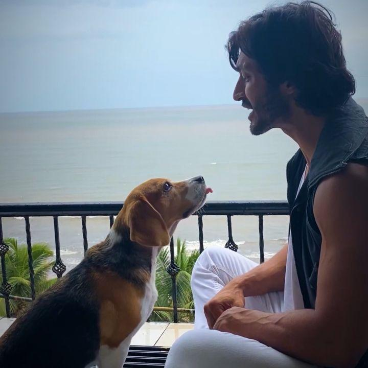 Vidyut Jammwal's special four legged friend joins him in announcing his YouTube channel