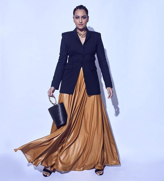 Sonakshi Sinha gives a twist to the classic pantsuit in Pinko and 431-88; Yay or Nay?