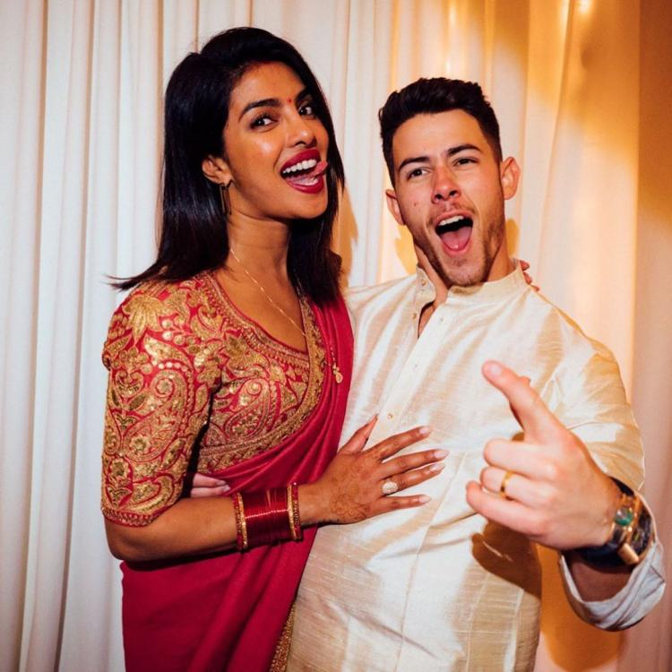 Priyanka Chopra proves she hasn't forgotten her roots as she dresses up for Karva Chauth with Nick Jonas