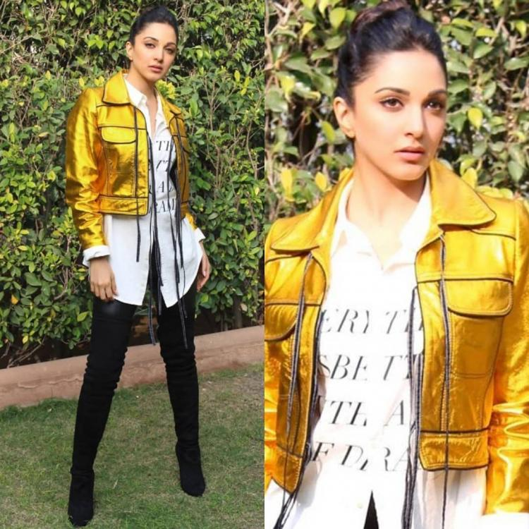 Kiara Advani is the ultimate golden girl in a trendy ensemble by Dhruv Kapoor; Yay or Nay?