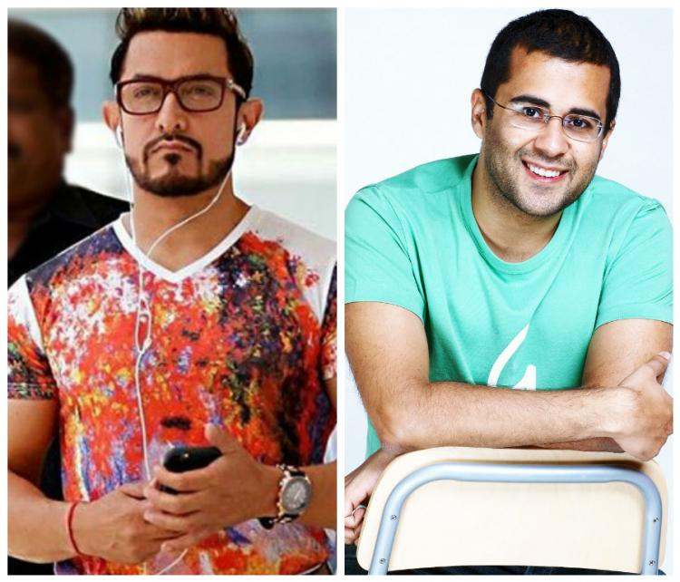 Oops! Aamir Khan forgets Chetan Bhagat's name | PINKVILLA