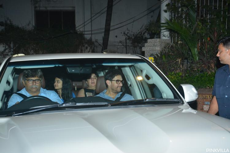 Photos: Aamir Khan arrives with ex wife Reena Dutta at Punit Malhotra's bash | PINKVILLA