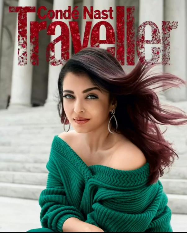 Aishwarya Rai Bachchan is bold and beautiful in green on the digital cover of Condé Nast Traveller India   PINKVILLA