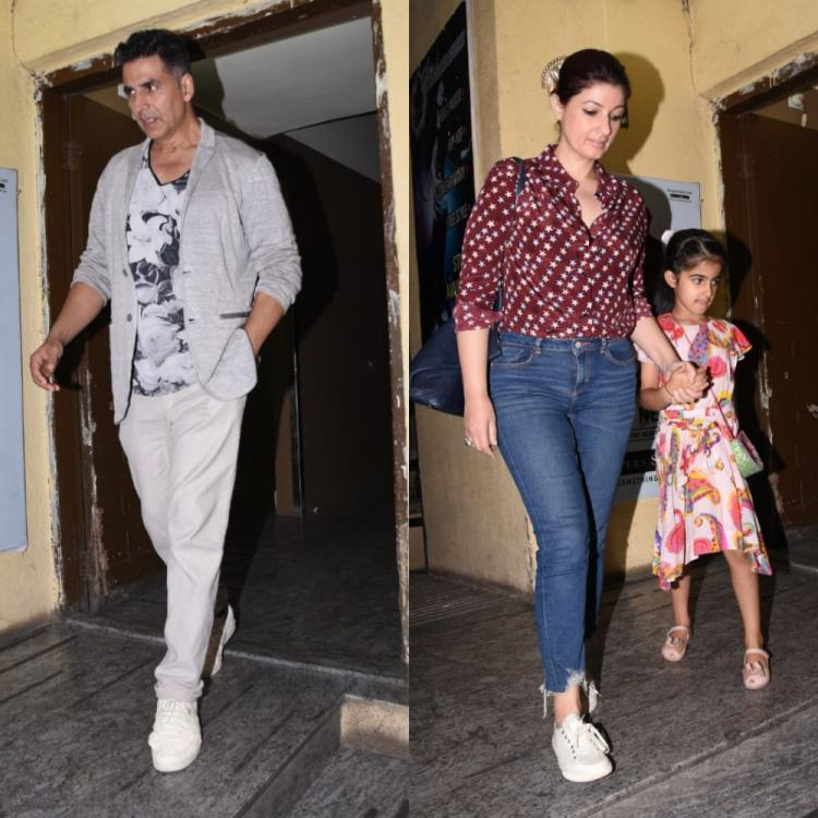 PHOTOS: Akshay Kumar enjoys a movie night out with wife Twinkle Khanna and daughter Nitara