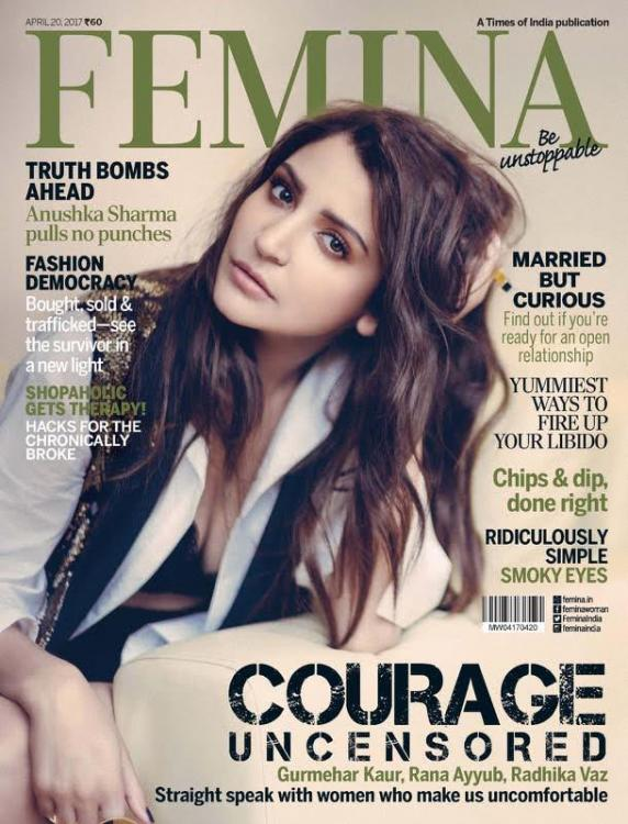 Anushka Sharma Looks As Pretty As A Picture On The Cover