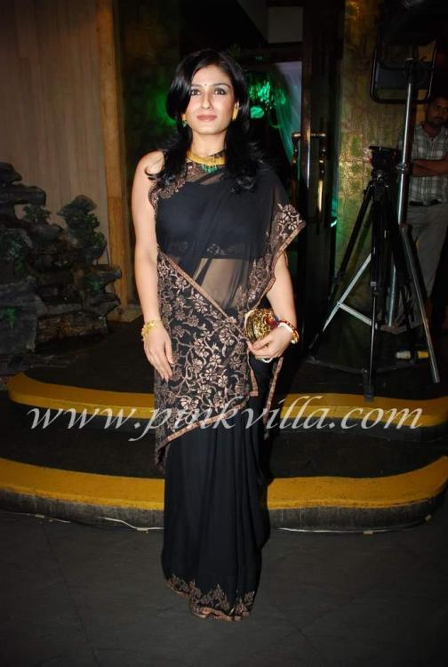 Event,black saree,star wife