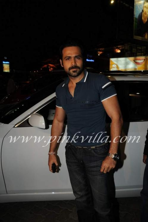 Emraan upen arbaaz tusshar at aalim hakim 39 s salon for Aalim hakim salon mumbai