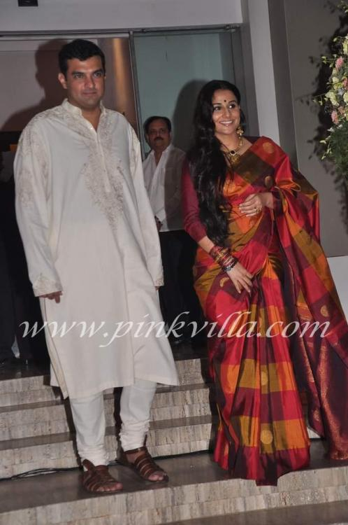 Photos,Vidya Balan and Siddharth Roy Kapur's wedding bash for family