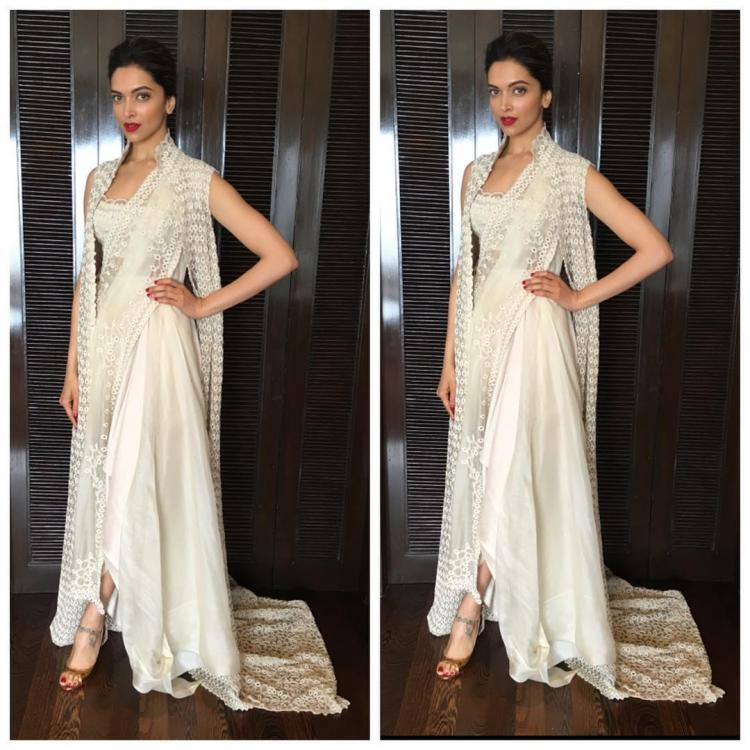 Oh my! Deepika wears her saree with a twist and we are ...