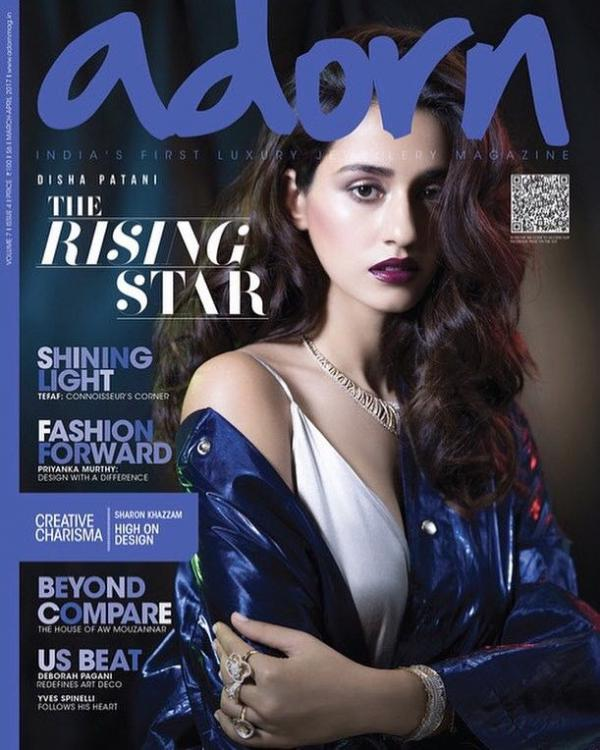 Disha Patani looks alluring on the cover of Adorn