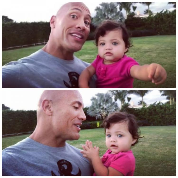 The Rock's Daughter Jasmine Adorably Starts Clapping As