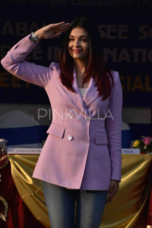 Aishwarya Rai Bachchan looks power puffed in this pink pant suit as she attends a school event; check it out | PINKVILLA
