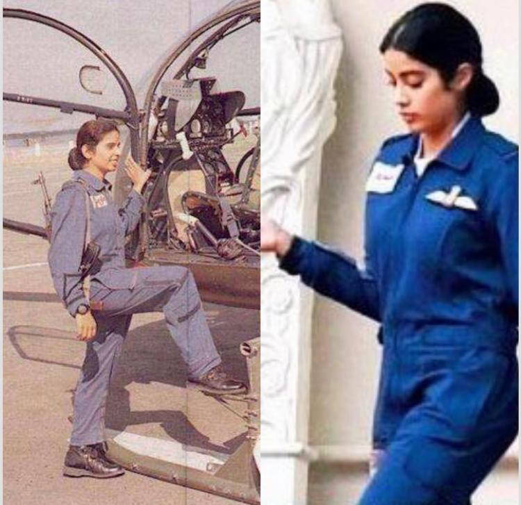 Janhvi Kapoor S First Look As Gunjan Saxena The First Female Iaf Pilot Is Out And It Will Leave You Surprised Pinkvilla