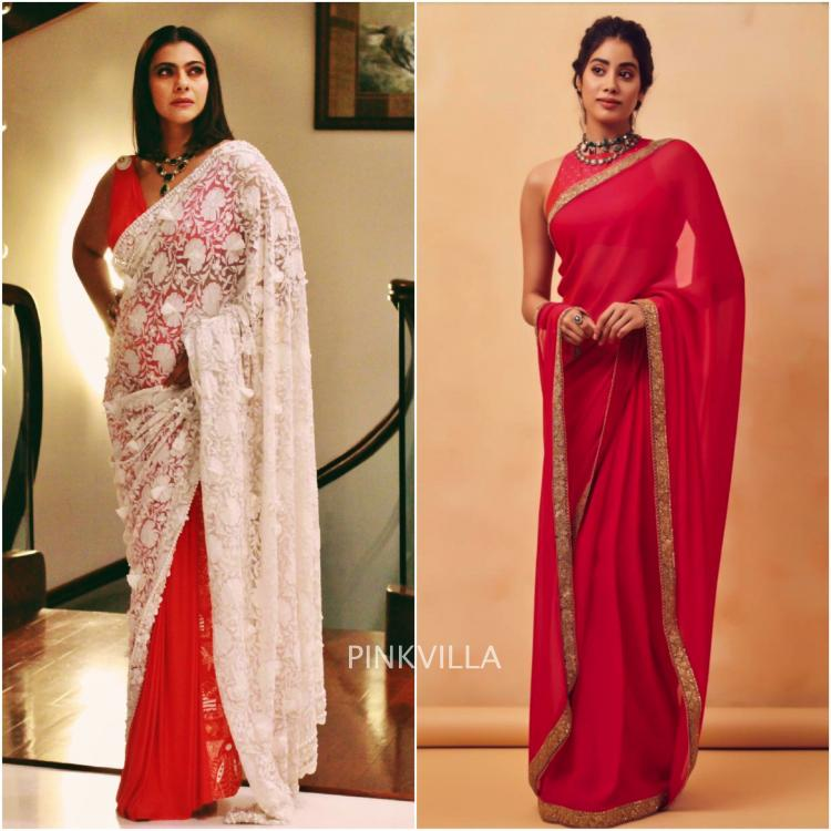 Janhvi Kapoor and Kajol wear red sarees to an awards event : Yay or Nay?