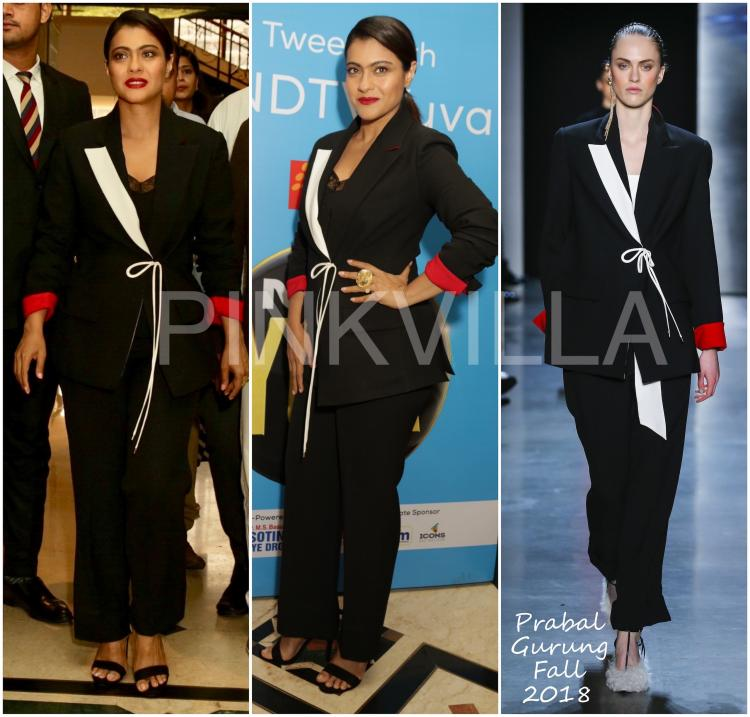 Yay or Nay : Kajol in Prabal Gurung and Urvashi Kaur