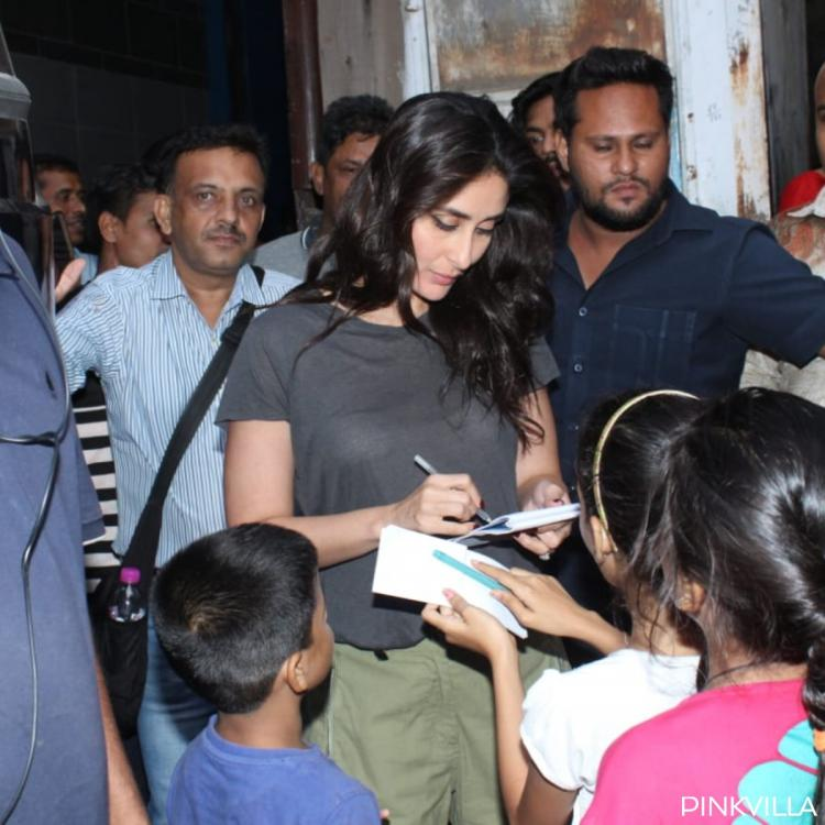 Kareena Kapoor Khan obliges fans with autographs as she gets clicked after a shoot in Mumbai; See pics